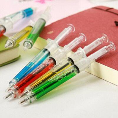 4pc Syringe Injection Shape Ballpen 4Pcs Doctor Nurse Gift Liquid Pen Ballpoint](Syringe Pen)