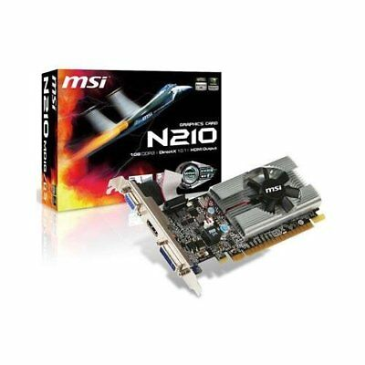 MSI Video Card N210-MD1G/D3 1GB DDR3 64Bit PCI Express 2.0 DVI HDMI VGA Windows
