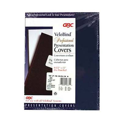 New Gbc Navy Letter Velobind Punched Linen Weave Covers W Windows 25 Sets