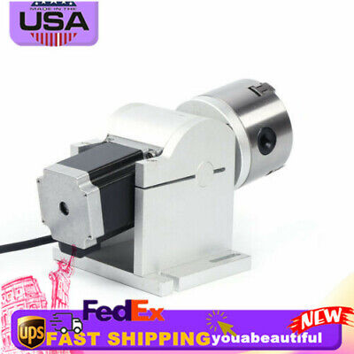 Rotary Axis 80mm Cnc Chuck Rotating Shaft For Laser Engraving Cutting Machine Us
