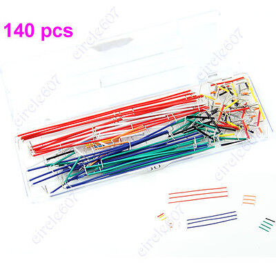 140pcs Solderless Breadboard Jumper Cable Wire Kit Box Diy Shield For Arduino