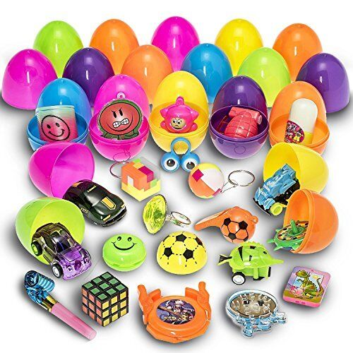 Easter Eggs Filled with Mini Toys and Trinkets Each Egg Contains a Different Toy