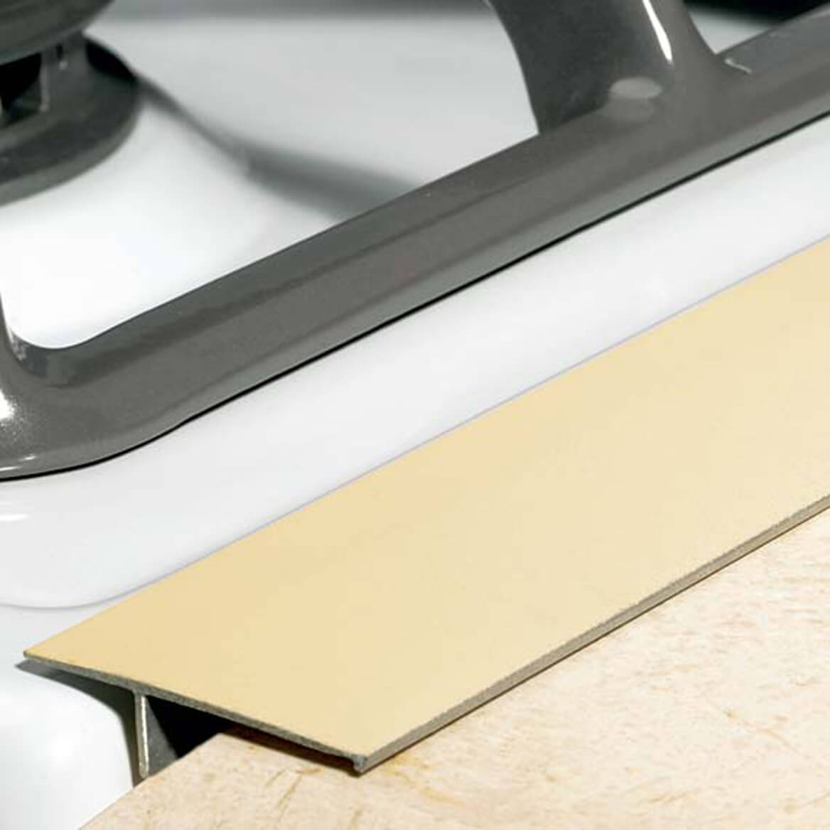 Gap Cap for Stovetops Metal Magnetic Miles Kimball Beige Strip Stove Counter Dishwasher Parts