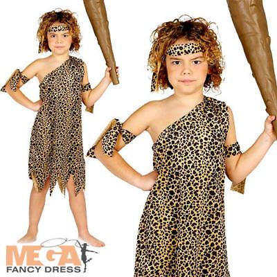 Caveman Kids Fancy Dress Cave Boy Man Stone Age Boys World Book Day Costume ](Kids Caveman Costumes)