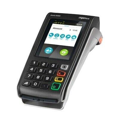 Ingenico Desk 5000 Wireless Credit Card Terminal Machine Pca30010369 Touchscreen