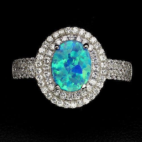 Black And Blue Diamond Ring