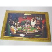 Vintage Dogs Playing Poker