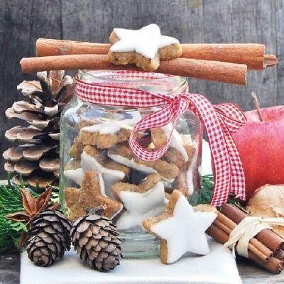 Ambiente Servietten COOKIES IN JAR Zimtsterne Kekse Weihnachtsdeko Weihnachten (Cookies In Jar)