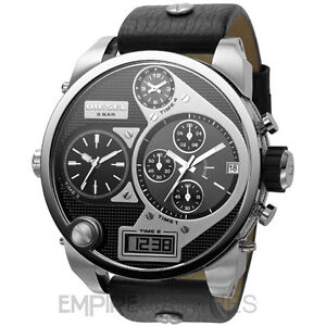 *NEW* MENS DIESEL DIGITAL QUARTZ SBA XL 4 TIME ZONE WATCH - DZ7125, RRP £229