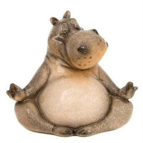 Polystone Meditating Hippo