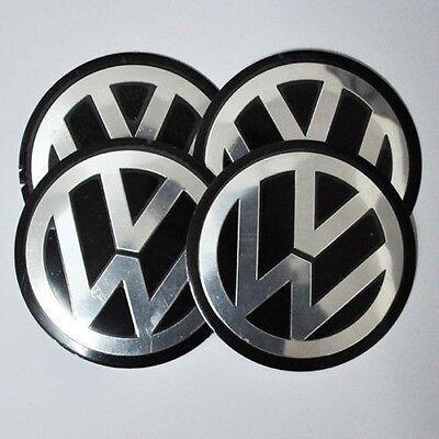 Set of 4pcs 90mm VW Wheel Center Hub Caps Decal Emblem Logo Jetta Golf Passat 4x