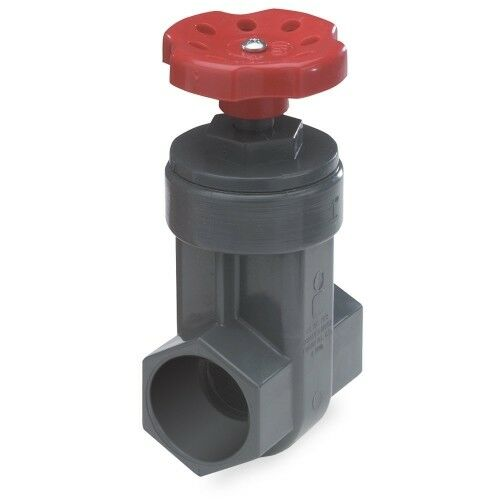 King Brothers Inc. GVG-1000-S 1-Inch Slip PVC Schedule 80 Gate Slip Gate Valve,
