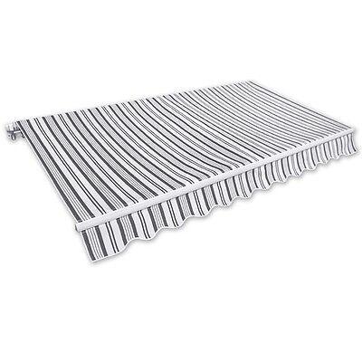 Markise Gelenkarmmarkise 3,5x2,5m grau-weiß Alu Handkurbel Sonnenschutz NEU