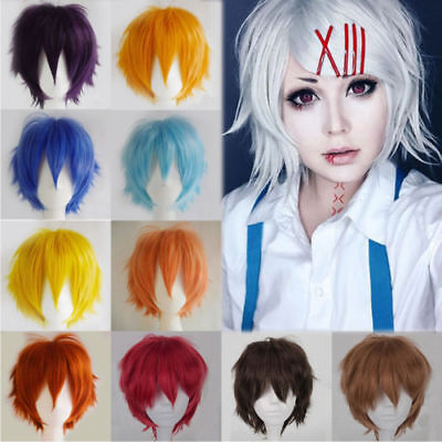 Anime Short Wig Straight Hair Cosplay Costume Party Heat Resistant - Halloween Short