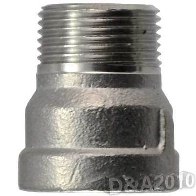 Nipple 304 Stainless Steel 12 Female X 12 Male Bushing Pipe Fitting Npt