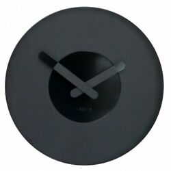 Boyle NeXtime Modern Indoor Stylish Wall Clock In Touch - Black