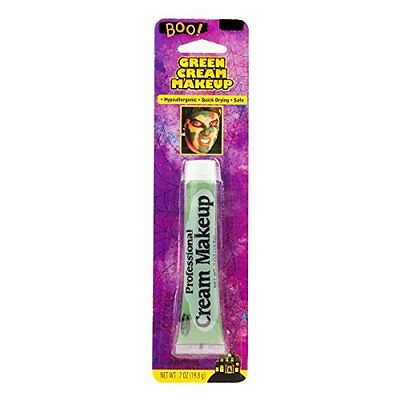 Green Cream Makeup 7 oz Tube Zombie Frankenstein Horror Costuming Halloween Hulk