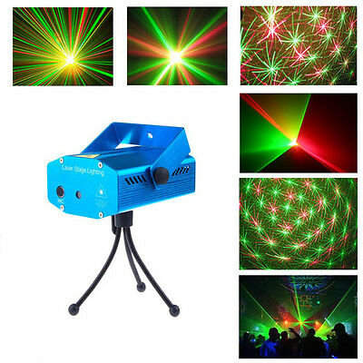 Hot Mini LED R&G Laser Projector Stage Lighting Adjustment DJ Disco Party Club on Rummage