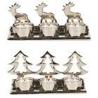 Reindeer Silver Metal Candle Holders & Accessories