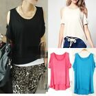 Off-Shoulder Cut Out Regular Size Tops & Blouses for Women
