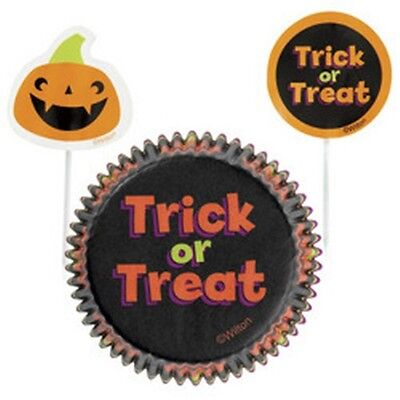 Wilton Halloween Cupcake Combo Baking Set Cases & Picks Fairy Cake Baking Cups ()