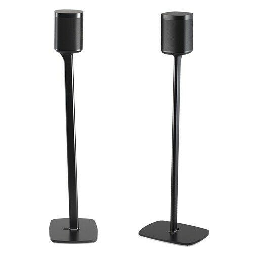 Sonos One and Play 1 Flexson Floor Stand Black Pair