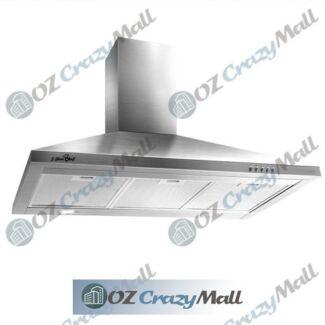 195W 90cm Width Stainless Steel Kitchen Rangehood
