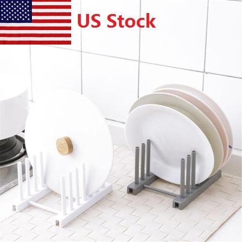 Dish Drainer Rack Plate Holder Up Washing Sink Kitchen Tray Drip Rack Organiser
