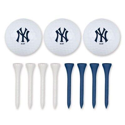(Brand New MLB New York Yankees Golf Ball & Tee Set Team Logo McArthur)