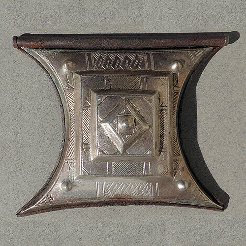an old antique large silver tuareg tcherot pendant amulet niger mali #9