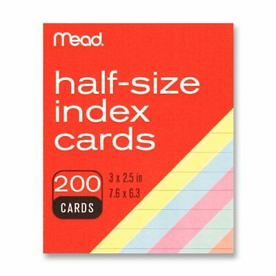 Mead Printable Index Card - 3 X 2.50 - 200 Pack - Assorted Mea63039