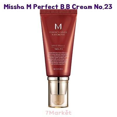 [Missha] M Perfect Cover Blemish Balm BB Cream 50ml #23 SPF42 PA+++ Free gift