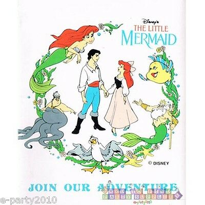 ARIEL THE LITTLE MERMAID INVITATIONS ~ Vintage Birthday Party Supplies Card Note](Ariel Invitations)
