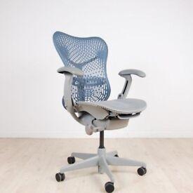Herman Miller Mirra Chairs Blue Fog