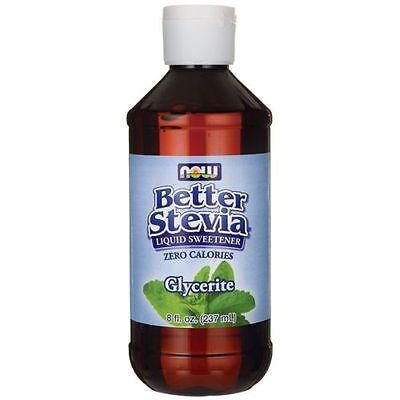NOW Foods Glycerite Better Stevia Liquid Food Sweetener 8 oz Liquid