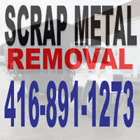 How much scrap metal do you have? Call 416-891-1273