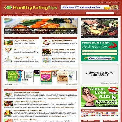 Established Dieting Affiliate Website Turnkey Business For Sale Free Hosting