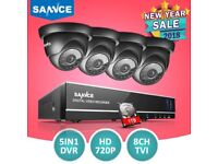 SANNCE 8CH 1080N HDMI Security DVR 720P IR Night Vision CCTV Cameras System 1TB