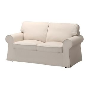Ikea beige love seats couch