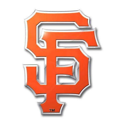Sf giants decal white kamos sticker for Sf contact nackenkissen small