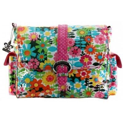 Kalencom  Baby Changing Bag - GIRLY GIRL - Pink Hippy Flowers Retro RRP £59.99