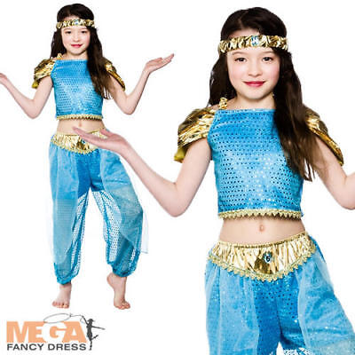 Arabian Nights Princess Girls Fancy Dress Fairytale Jasmine Child Costume Outfit