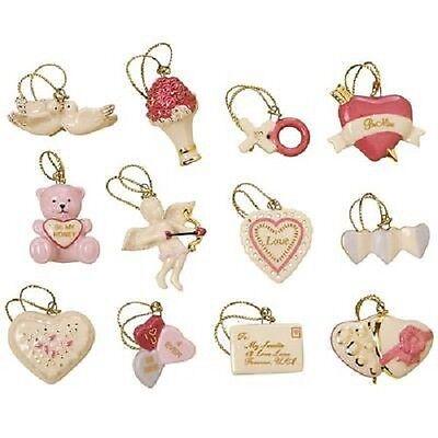 LENOX Be Mine VALENTINE ~12 Miniature ORNAMENTS Valentine's Day Set  No Tree  - Valentine's Day Tree