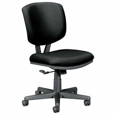 Hon Volt 5701 Basic Swivel Task Chair - Polyester Black Seat - Back - Black