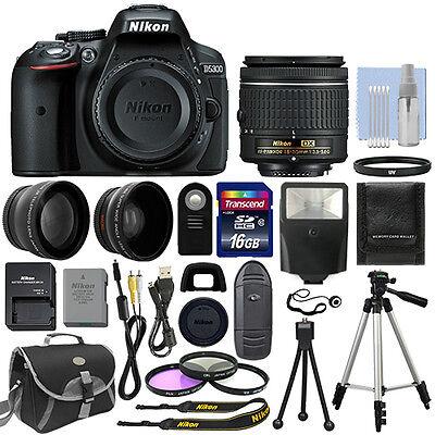 Nikon D5300 Digital SLR Camera + 3 Lens Kit 18-55mm Lens + 16GB Do a moonlight flit