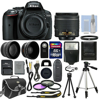 Nikon D5300 Digital SLR Camera + 3 Lens Kit 18-55mm Lens + 1