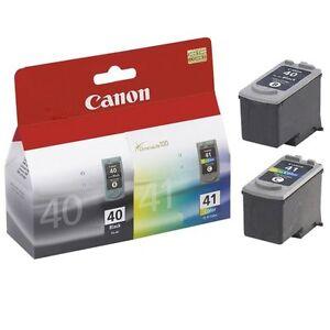 Canon PG-40 PG 40 Black And Canon CL-41 CL 41 Colour Refilled Fine Cartridges