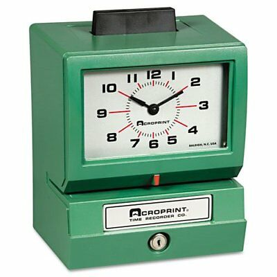 Acroprint Model 125 Time Clock - Card Punchstamp - 100 Employee 011070413
