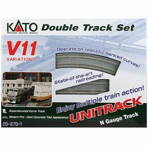 KATO USA N Scale ~ New 2021 ~ V11 Double Track Set ~ 20-870-1