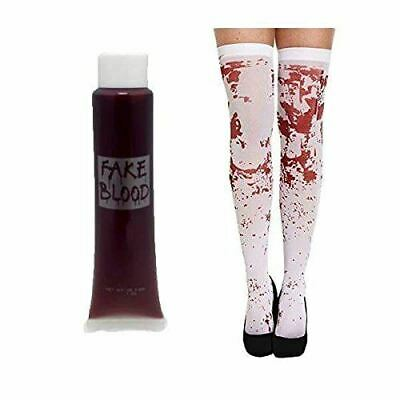 Halloween Stocking Tight With Fake Blood Tube Sexy Fancy Dress Costume - Halloween Costumes With Fake Blood